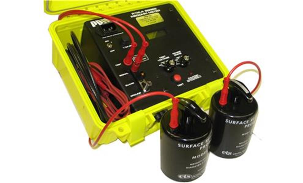 MEGOHMMETER, PORTABLE, 1 MΩ TO 200 GΩ, 500V, 3.5 DIGIT, WITH SURFACE PROBES