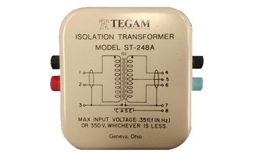 Precision Fixed Ratio Voltage Transformer, 1:1 Ratio, Binding Post Termination, Electrostatic Shields
