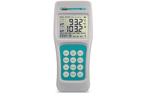 932A Datalogging Thermometer, Bluetooth® Wireless, Dual Input, °C &°F (K, J, T, E, B, N, R & S probes)