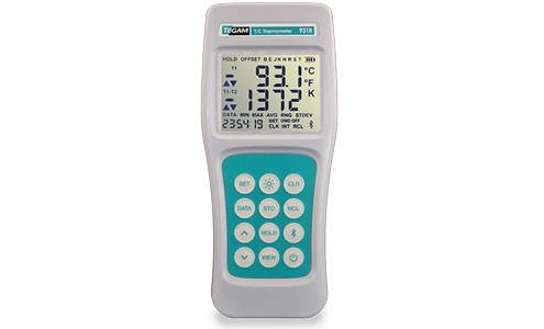 The TEGAM 931B Thermocouple Thermometer features data logging capabilities thanks to wireless Bluetooth connectivity for easy and convenient data logging activities.
