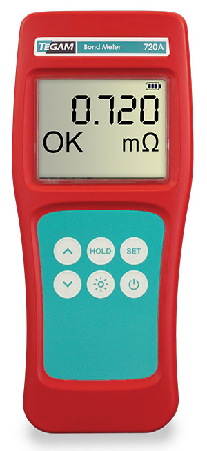 720A intrinsically safe bond meter and milli-ohmmeter by TEGAM